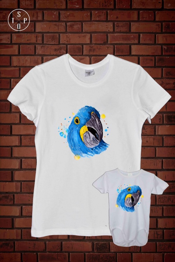 CMPL 2 WHI - Blue Parrot Head-1000x1500
